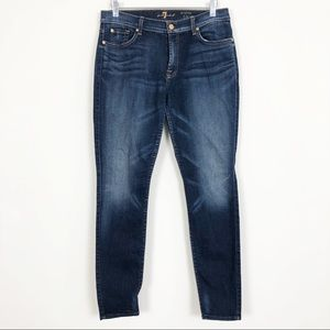 7 For All Mankind | The Mid Rise Skinny Dark Wash